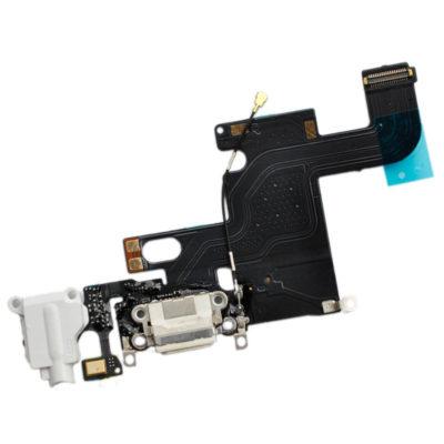 iPhone 6 Dock Connector Ladebuchse Mikrofon Antenne Audio Jack Flex – weiss weiß